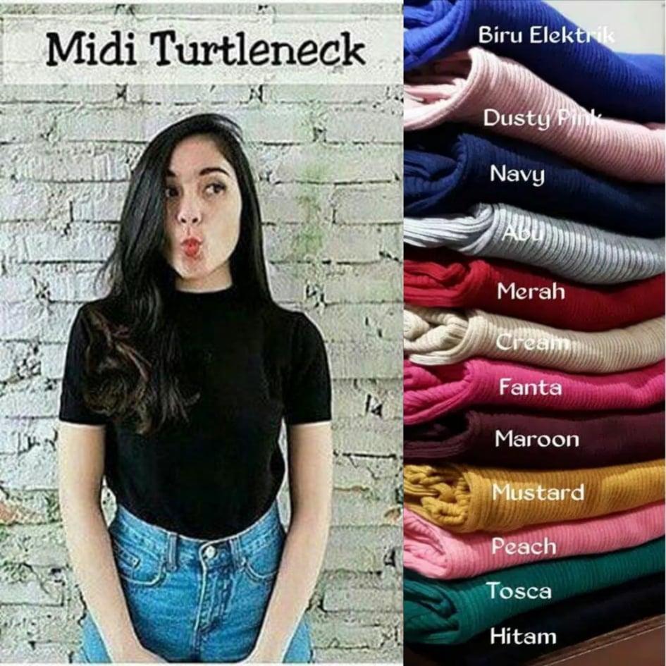 MIDI TURTLENECK / BAYAR DI TEMPAT / Sweater Rajut Wanita / Baju Rajut wanita / Baju