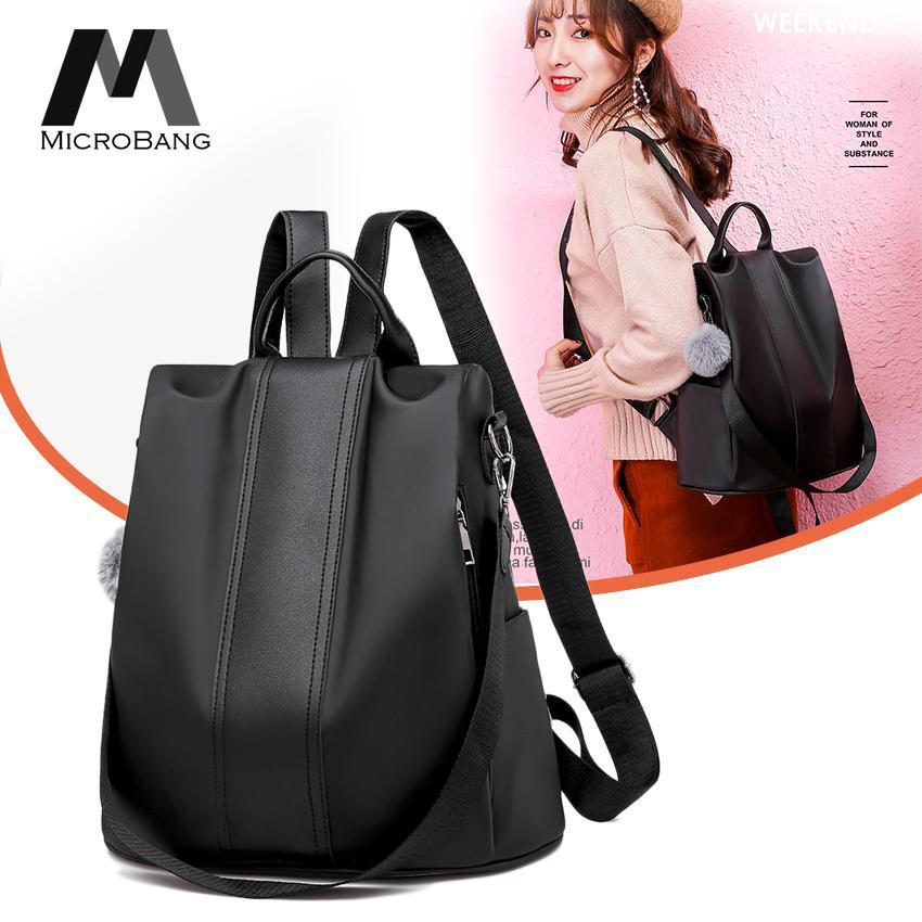 4a8b9500908 MicroBang Tas Ransel Sling Tebal Multifungsi 3in1 Kulit PU Fashion Korean  Style Bagus Branded Wanita Remaja