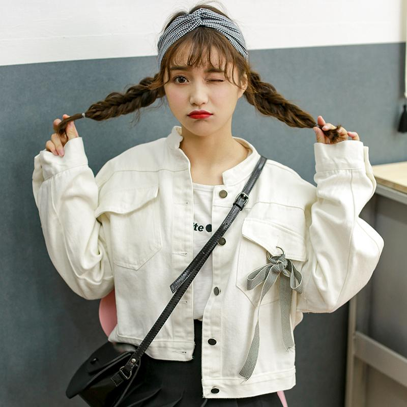 6a681aa45cca Jacket Waist Hugging Hipster 2019 Spring And Autumn Short Korean Style Slim  Fit Short Students White