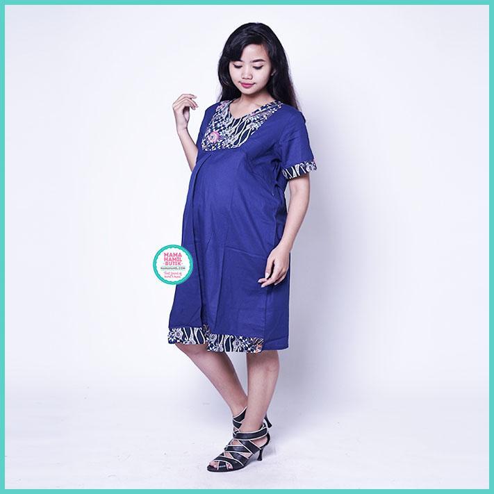 Mama Hamil Baju Hamil Dress Menyusui Etnik Krah V Tiffani   Baju Hamil Kaos    Baju 20ba7dd3c8