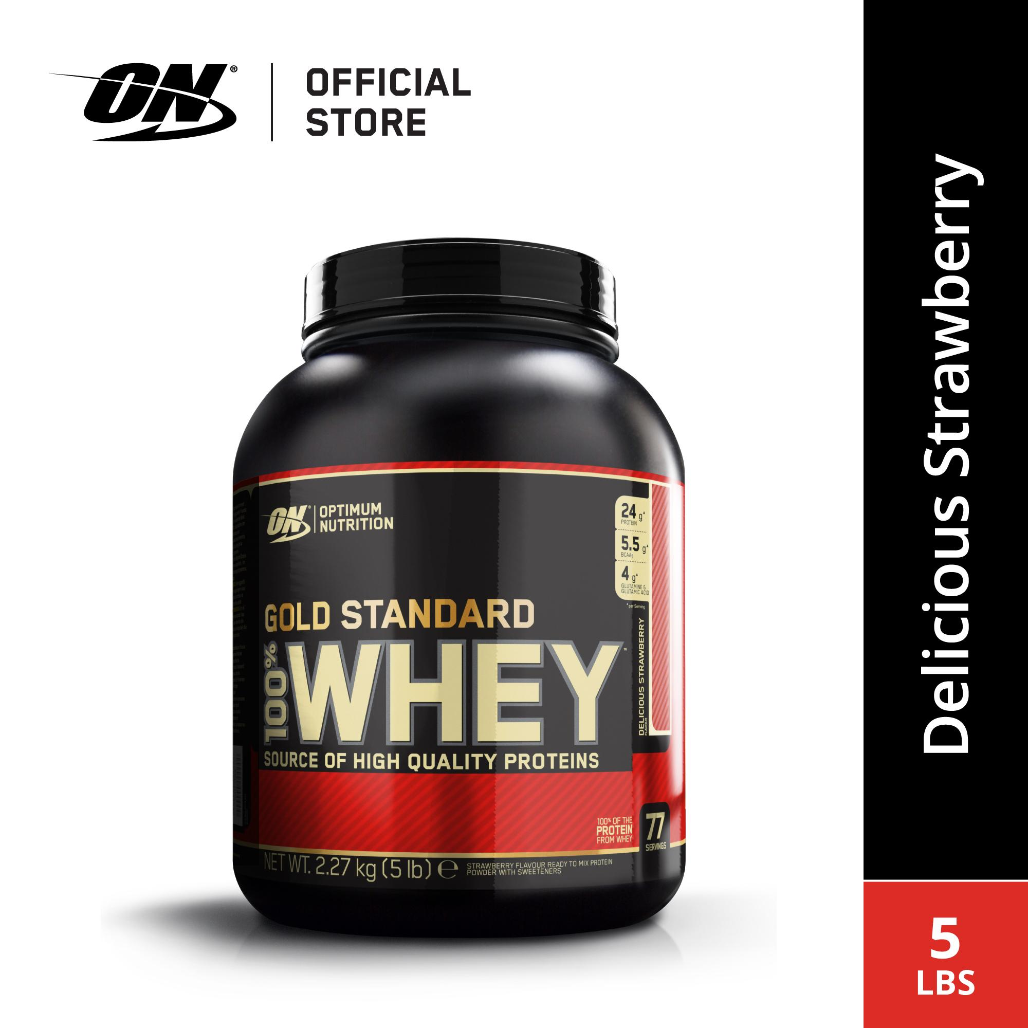 Optimum Nutrition Whey Gold Standard 5 Lbs - Strawberry By Sport N Body Fit.