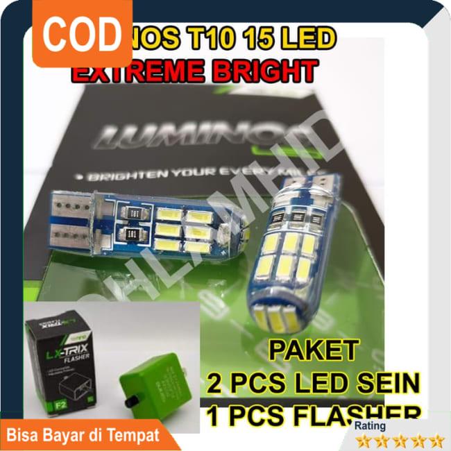 BISA COD!!!Lampu LED Sein + Flasher FINO 125 GRANDE FI LUMINOS T10 15 LED Sen || Lampu Motor || Bhid3