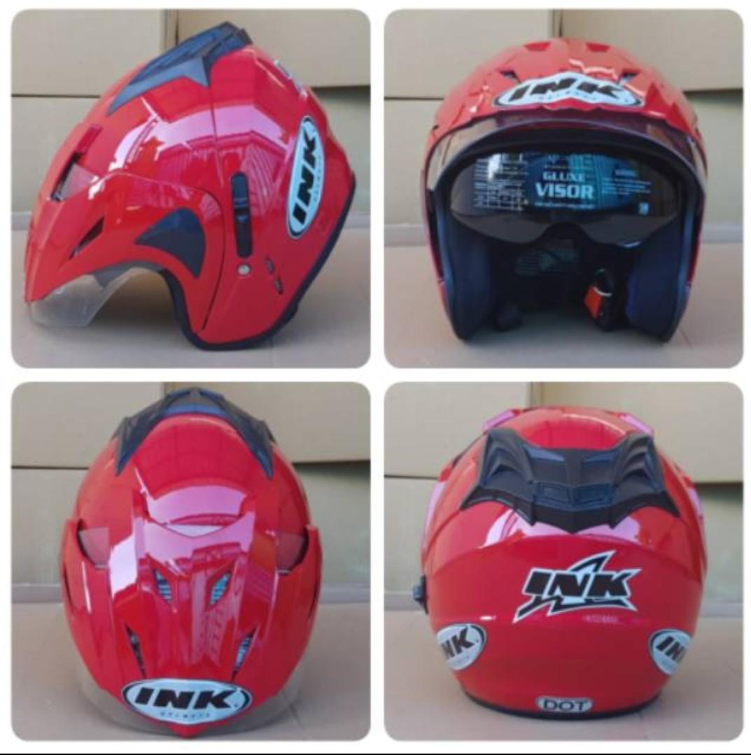 Helm Centro Basic Ink CX DOUBLE VISOR / T1 Merah Cabe