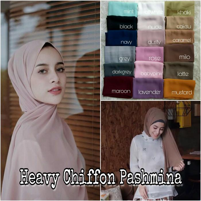 Jilbab Kerudung Pashmina Chiffon Hijab Sifon Siffon Ciffon Pasmina