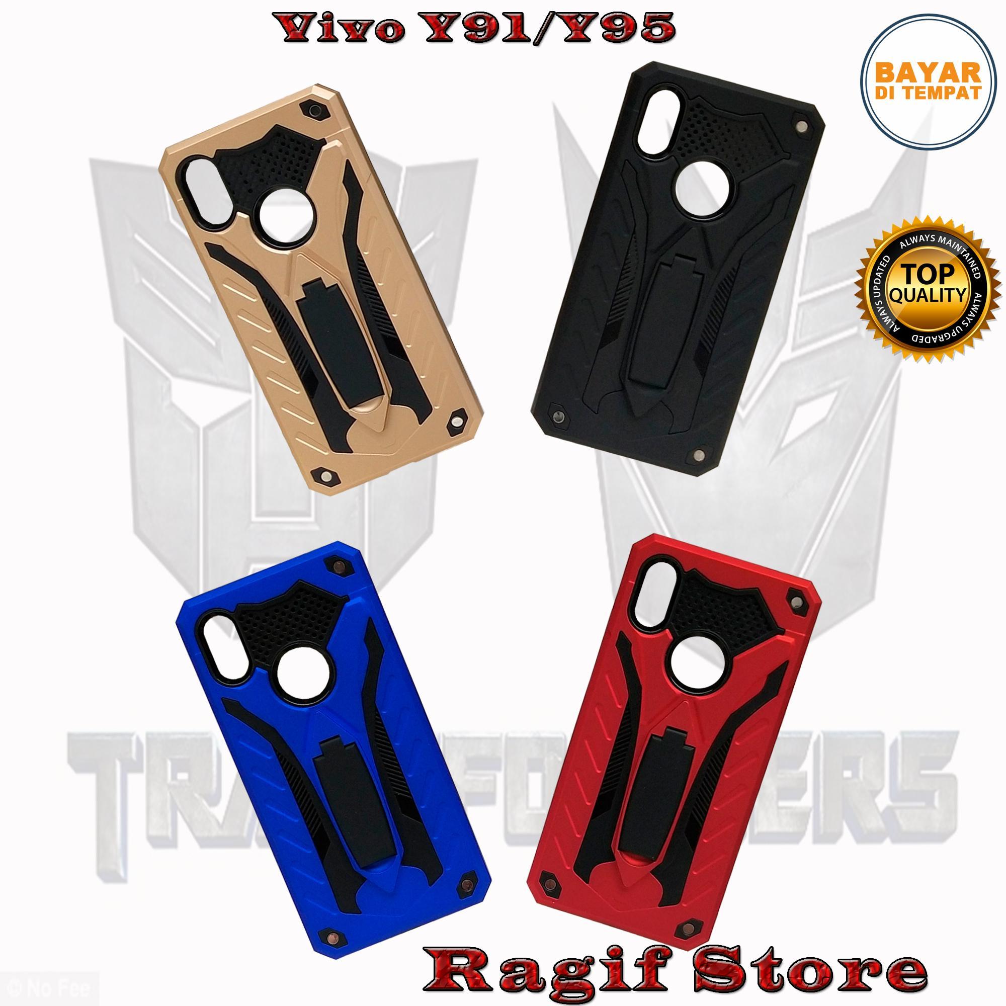 Sarung HP Vivo Y91/Y95 Case/Hardcase Model Terbaru Transformer Standing