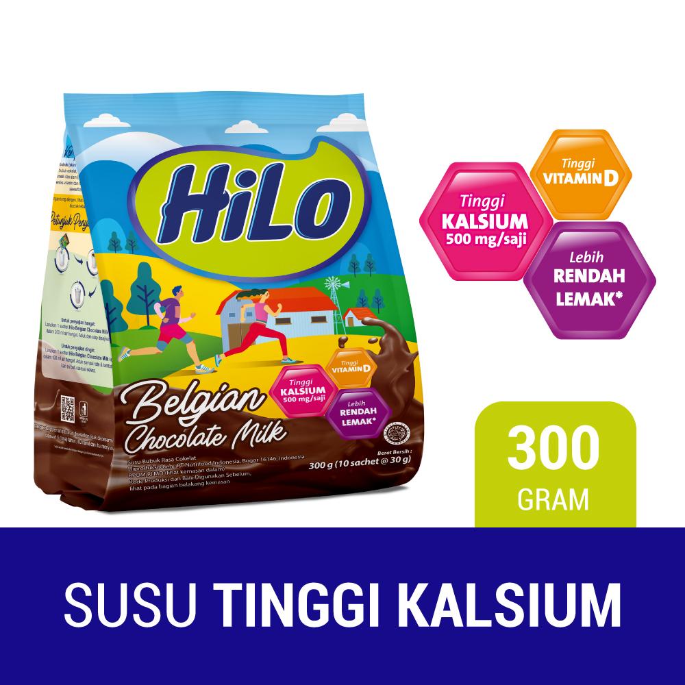 Hilo Active Belgian Chocolate 10 Sachet 30gr Susu Tinggi Kalsium Rendah Lemak Lazada Indonesia
