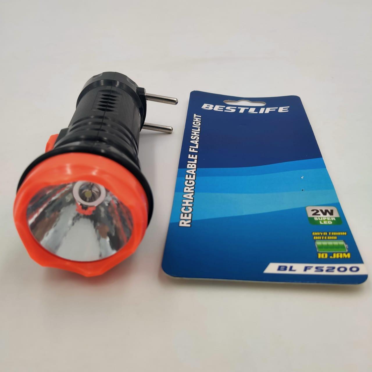 Senter Led  BL FS200 Mini  Emergency MERK BESTLIFE Watt Super LED Rechargeable-Goodank store