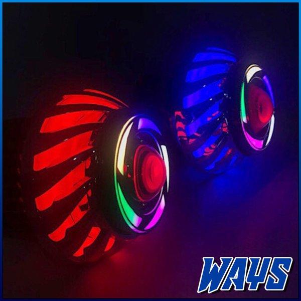 [BAYAR DITEMPAT] LAMPU DEPAN PROJIE LED RAINBOW SPIRAL HEADLAMP MOTOR BEAT MIO SCOOPY FINO JUPITER Z MX VEGA REVO SUPRA X 125 SATRIA FU NINJA L144 TERBATAS