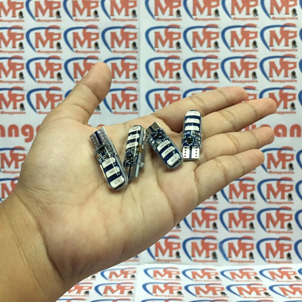 4 PCS Lampu Sen Kedip - Paket Lampu Sen Kedip LED T10 6 Mata / Sein Jelly Kedip Flash Strobo SEGN Reting Motor