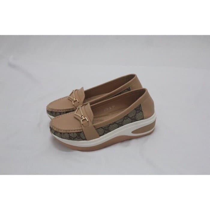e7edc254dcd Terfavorit Sepatu Loafers Gucci Wedges High Sole Terlaris