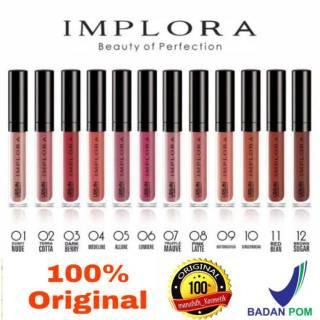 Lip Cream Implora Matte Lipstik Original Lipstick BPOM thumbnail