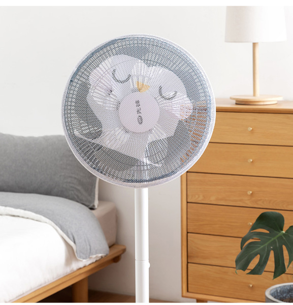 [Homesty] [Free Shipping] [COD] [In Stock]【Ship within 24 hours】1Pcs Cute Cover for Fan Simple Cartoon Washable Electric Fan Cover Anti-pinch Hand Child Protection Safety Protection Net Cover For Vertical Desktop(not include fan)