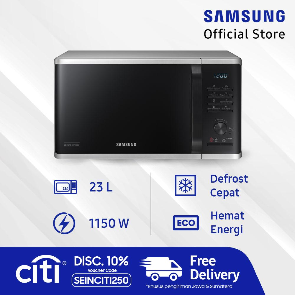 [gratis Ongkir] Samsung Microwave Solo, 23l - Ms23k3515as By Lazada Retail Samsung