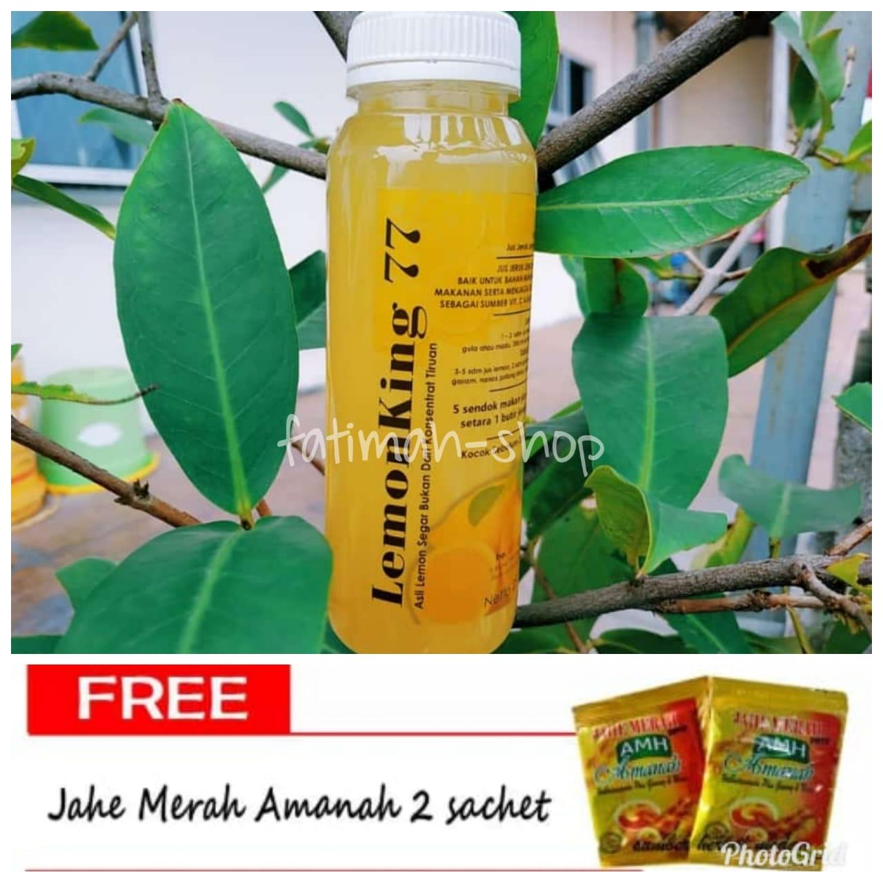 Peluntur Lemak- Sari Lemon Asli 100% Lemon Lemon King 77 Minuman Diet Fresh Sehat Lemonade 500 Ml Bukan Lemona By Fatimah-Shop.
