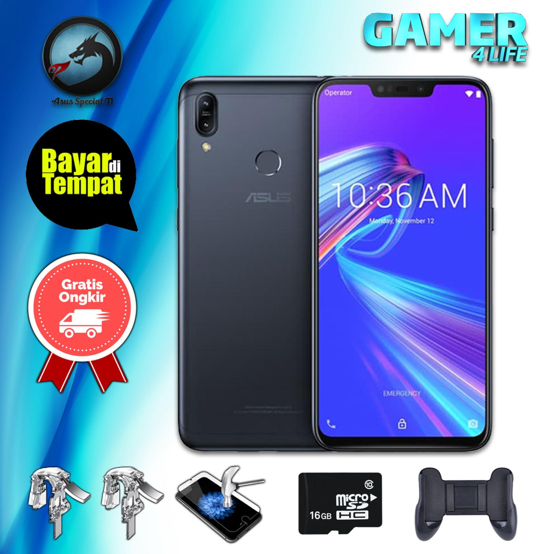 Asus Zenfone Max M2 ZB633KL 3/32, 4/64 6.3 Inch HD+ Dual Rear Camera 4000mAh + Packet Gaming S2
