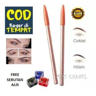 MISS CHANEL - Viva Pensil Alis - Pencil Eyebrow Viva - Warna Coklat dan Hitam - Bonus Serutan pensil warna warni 1