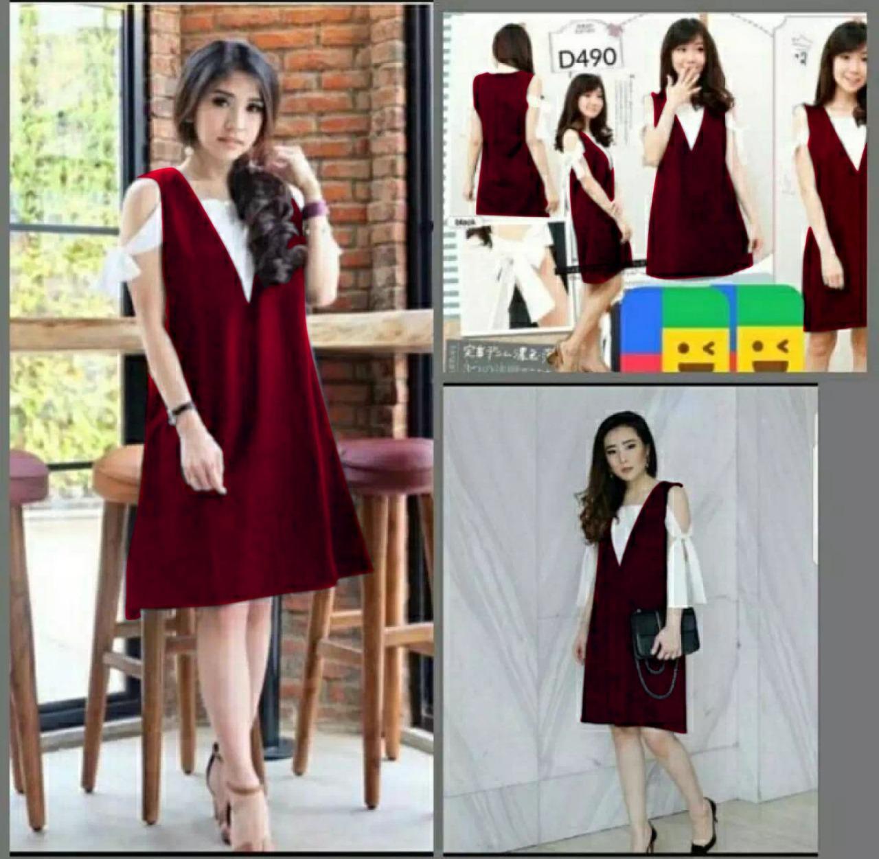 inbox fashion dress helen 02  baju import   Baju Wanita   Blouse Korea    Atasan e500ebf6d5