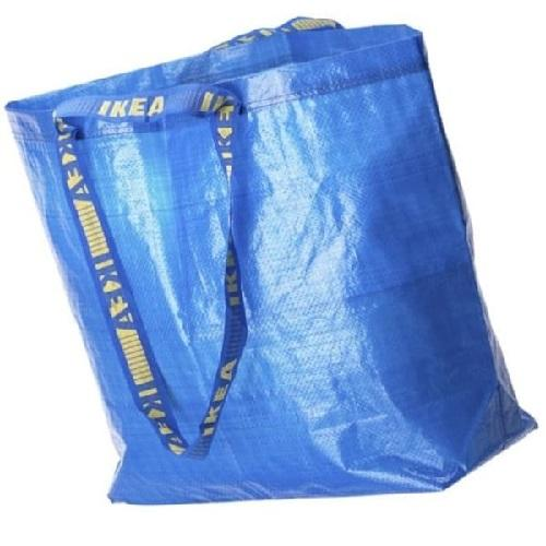 Ikea Tas Belanja Ukuran Sedang Frakta Go Green Shopping Carrier Blue Bag By Home Shopping Online.