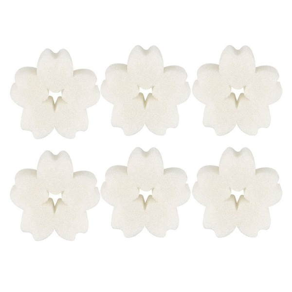 50Pcs Flower Shaped Scum Sponge Hot Tub and Swimming Pool Oil Absorbing Sponge Removes Oils and Lotions From Your Spa