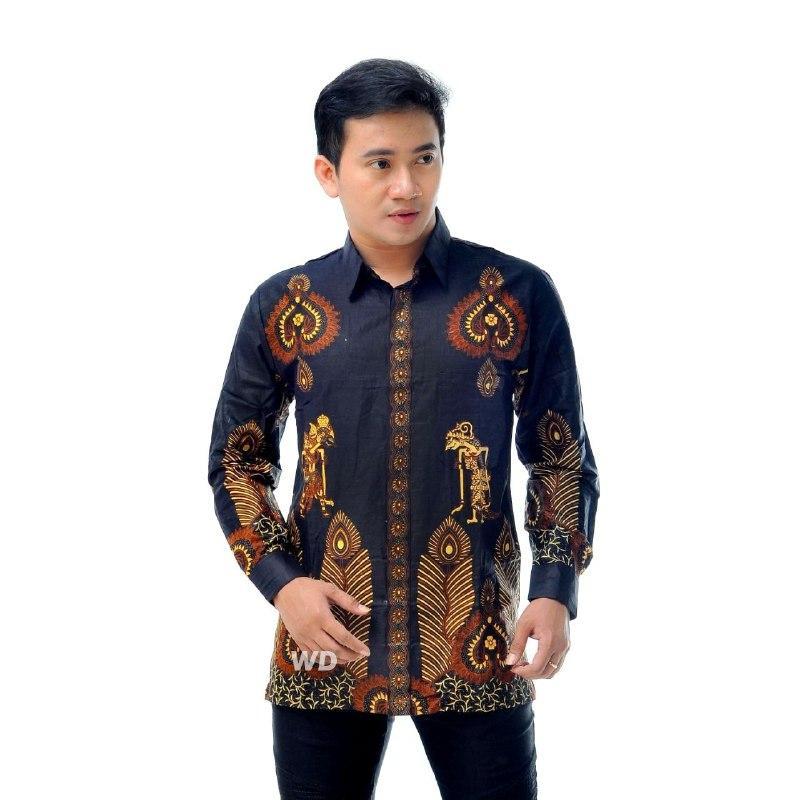 Kemeja Batik Baju Batik Pria Lengan Panjang HY008