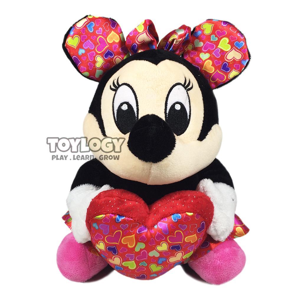 Toylogy Boneka Karakter Minnie Mouse Love Heart - Stuffed Plush Doll Hati 10 Inch