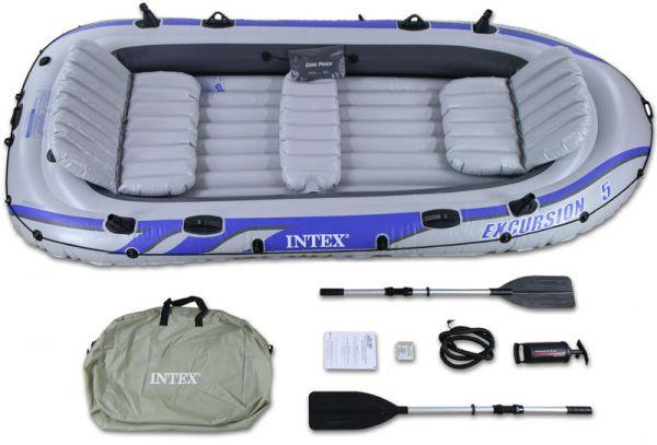 Intex Excursion 5 Sport Five Person With Paddles & Pum Perahu Karet By Supreme.