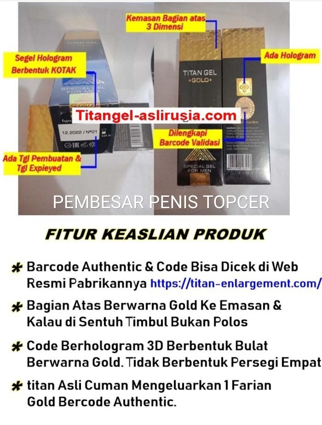 Produk Kita Agen Terjamin Asli Titan_gold Original Barcode Valid Made In Rusia_ Obat_pembesar Titan_gel_gold_asli 50 Ml By Produk Kita.
