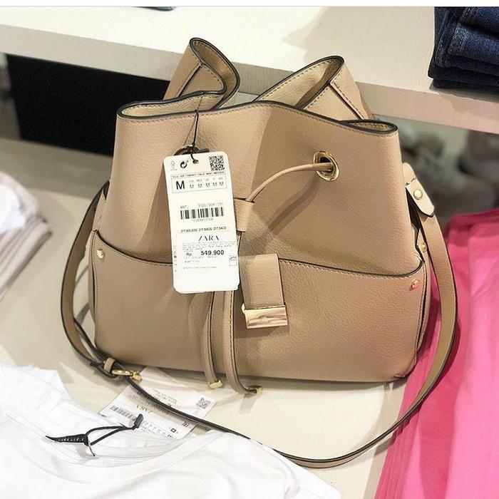 Tote Bag Wanita / Tas wanita zara pocket bucket ori import,supplier 1,harga