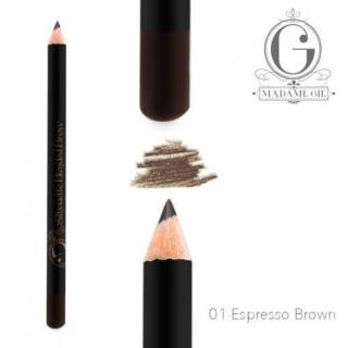 Madame Gie Pensil Alis Silhouette Blended Brow 01 Espresso Brown Waterproof Eyebrow thumbnail