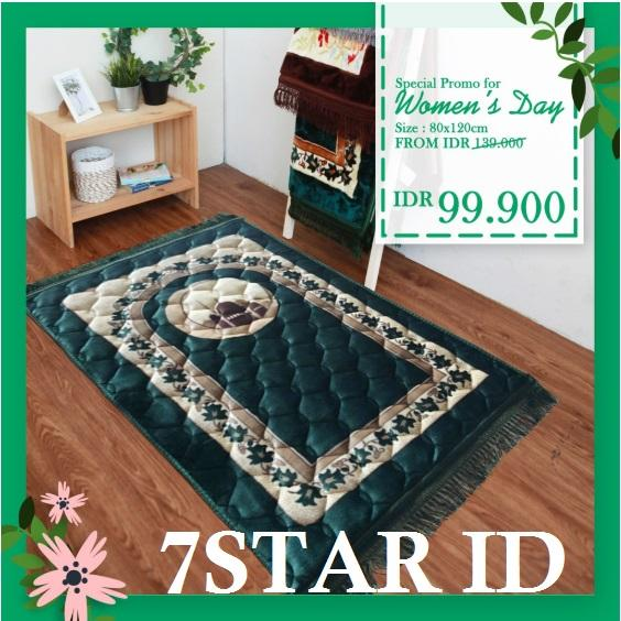 PROMO RAMADHAN 2019 Sajadah Jumbo Premium New Import 7STAR - Sajadah Bulu Halus Turki 120 CM x 80 CM - Motif Random