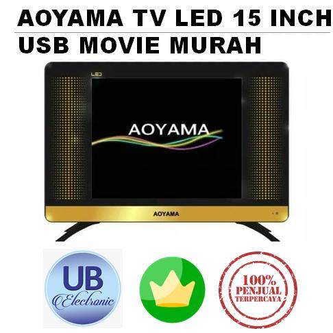 TV LED AOYAMA LED TV 15 INCH USB MOVIE HITAM
