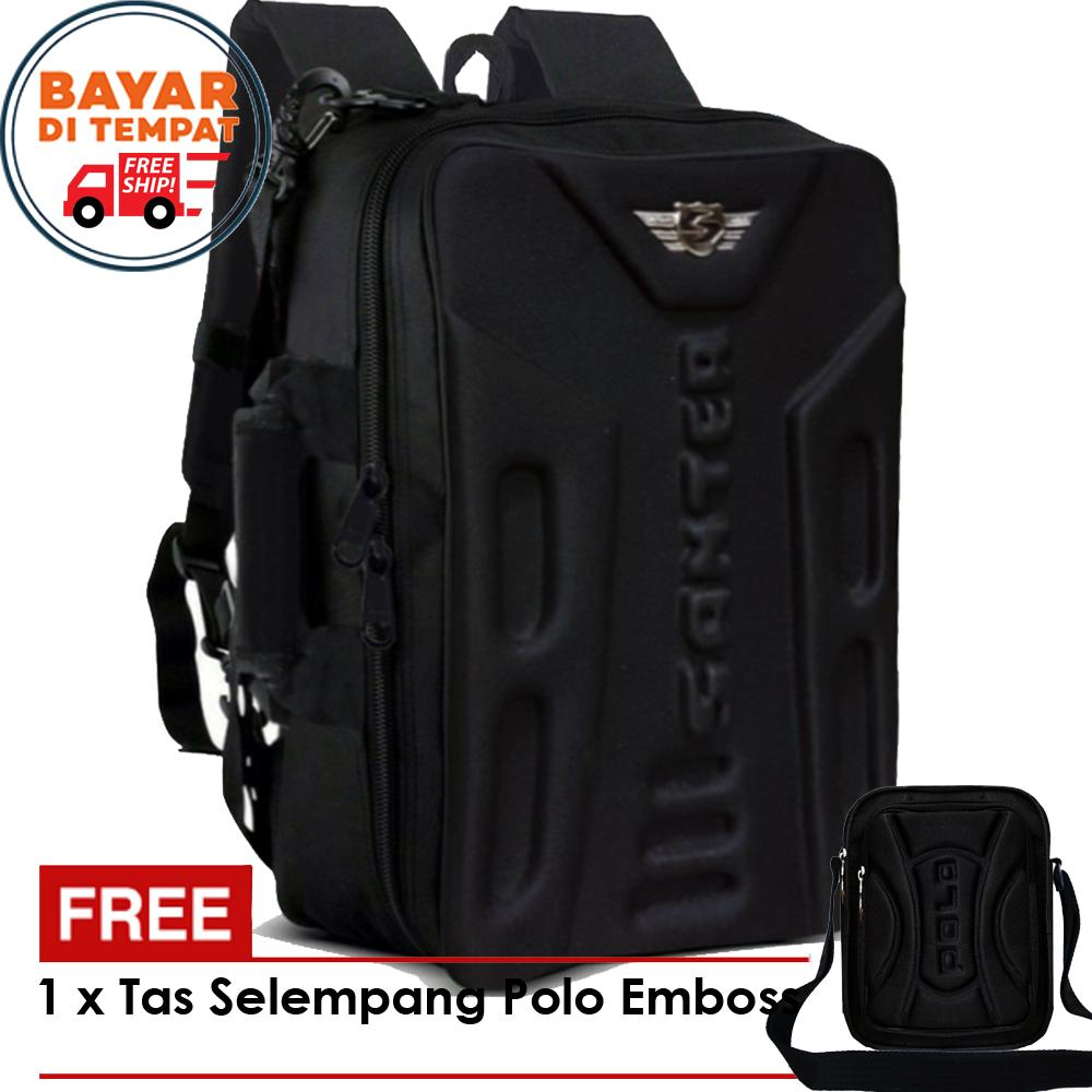 Promo 12.12 Tas Ransel Santer Emboss Free Tas Selempang Polo Emboss -  Santer S007  Tas 970b296c72