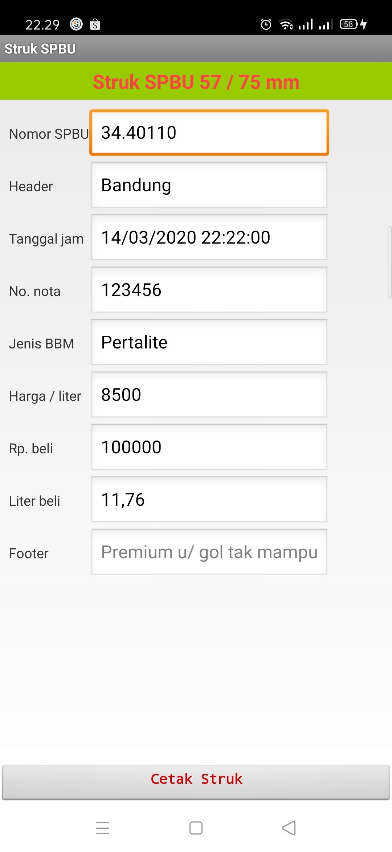 Software Struk Spbu Full Version Program Struk Bensin Spbu Lazada Indonesia
