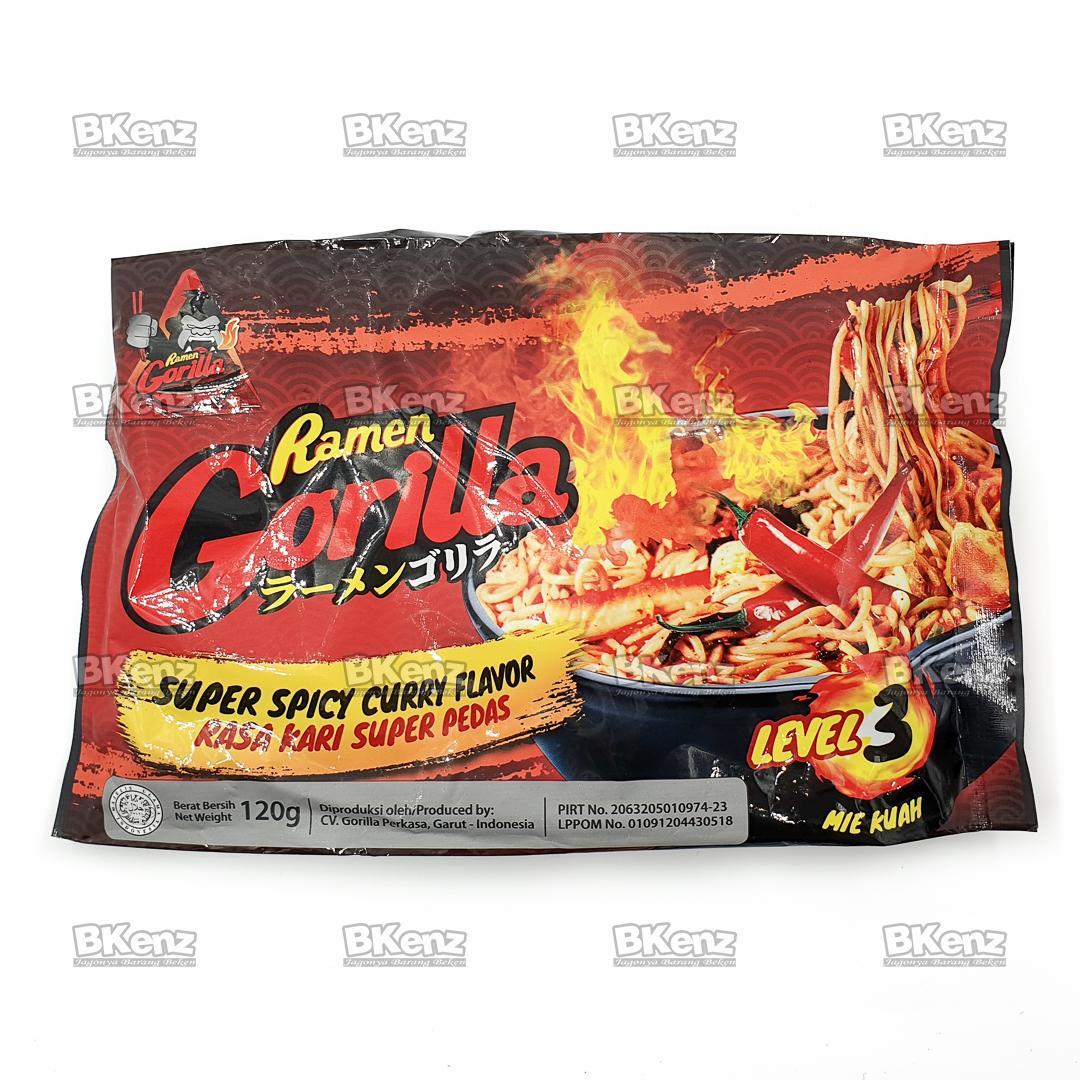 Ramen Gorilla Kuah Kari Super Pedas Super Spicy Instant Noodle Mie Instan Saingan Samyang Level 3