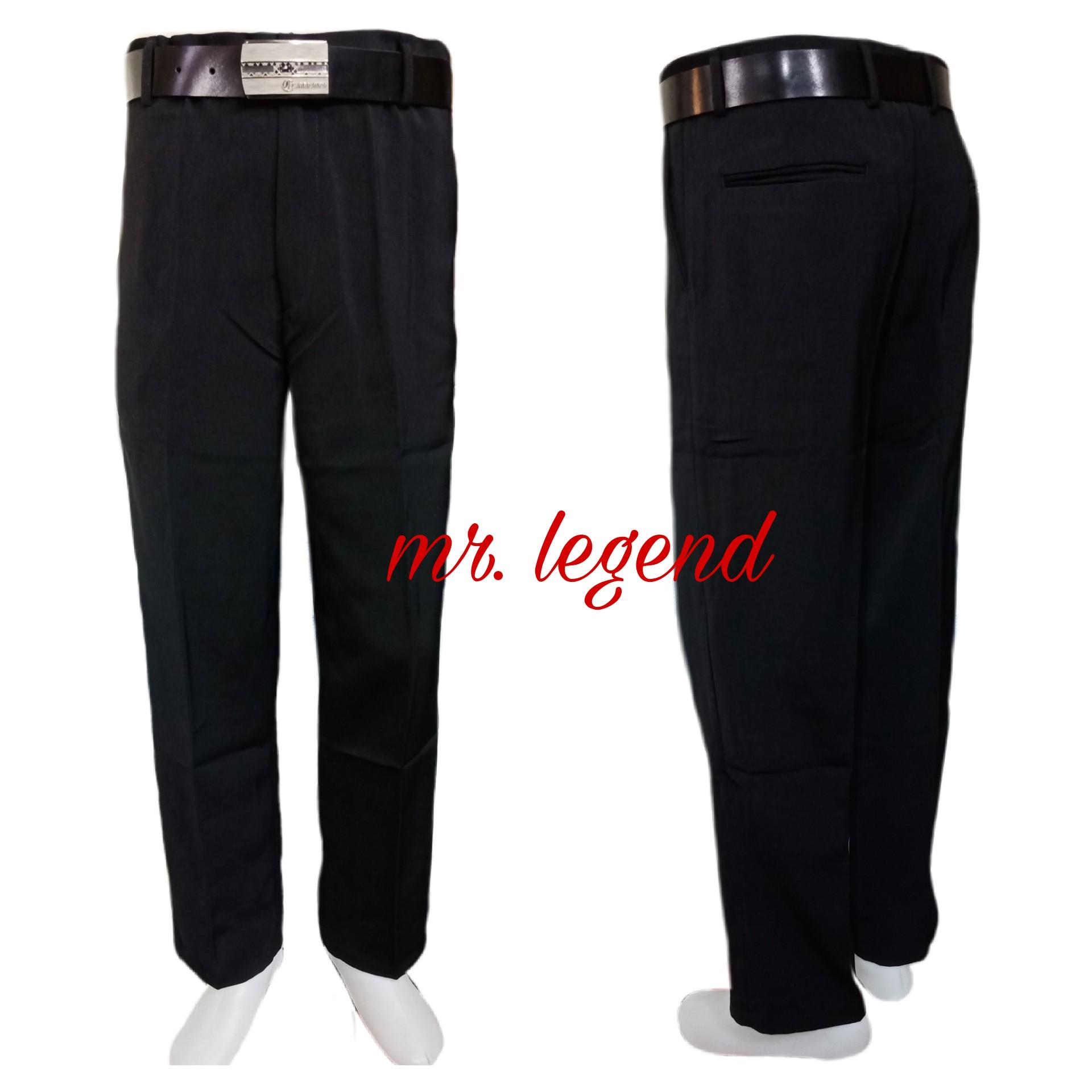 Mr.legend Celana Formal Pria Twis Regular Fit Hitam/ Celana Kerja Kantor Twist Formal Regulerfit 27/38 Hitam By Mr.legend.