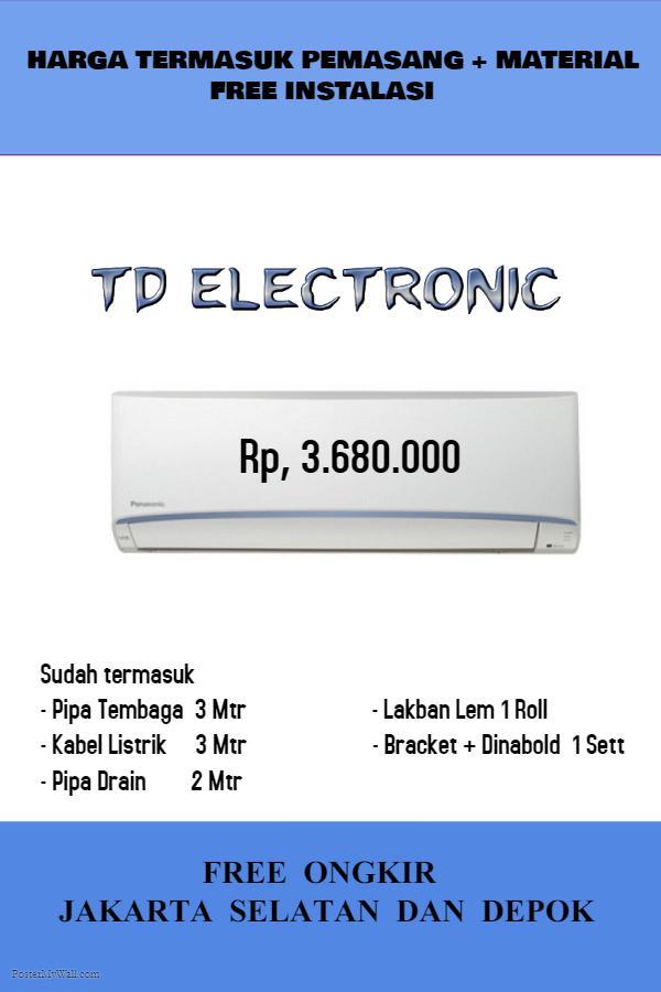 AC Panasonic 1 PK LN9TKJ Low Voltage Sudah Termasuk Pemasangan dan Material