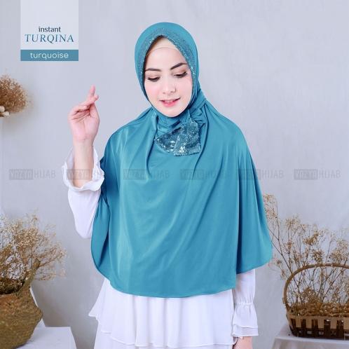 Hijab Instan Turqina Jilbab Instant Premium Bahan Jersey Lembut