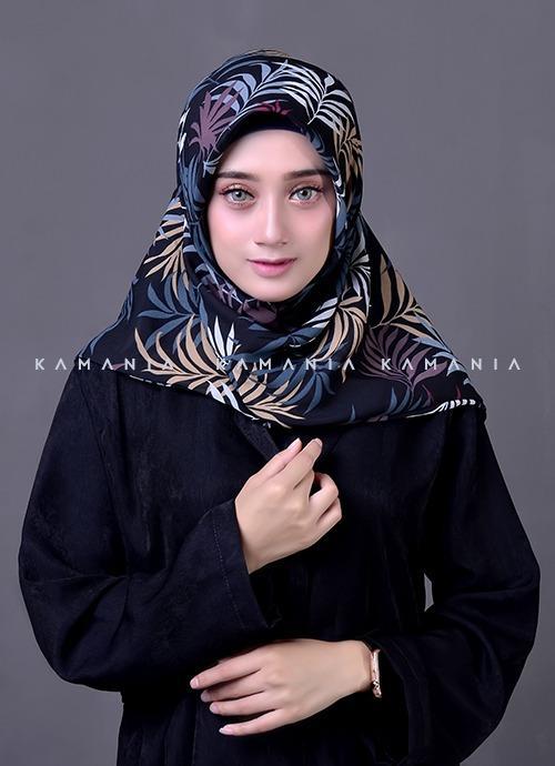 Jilbab Instan Motif Hawai 2 Layer