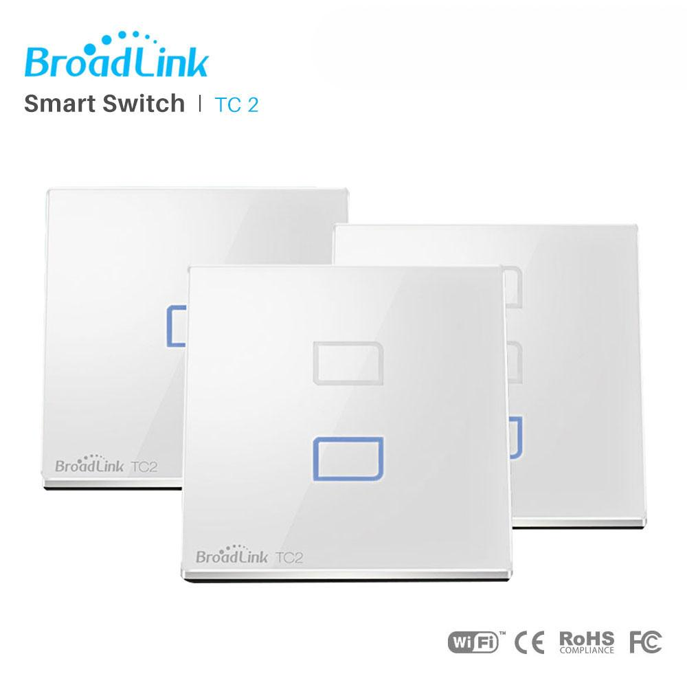 QUIVERSNOWY Broadlink TC2 1Gang/2Gang/3Gang EU Touch RF433 Switch Smart Home Intelligent Automation Wireless WIFI+IR+RF Remote Control Wall Light For IOS Android