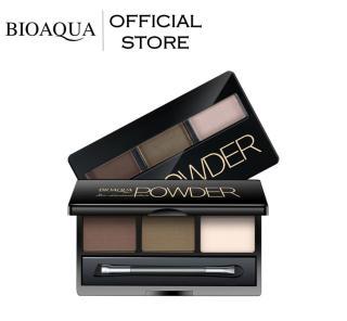 BIOAQUA Official Professional Kit Eyeshadow Eyebrow Powder (Alat Wax + Bedak + Kuas) 2x7 gr - Waterproof Anti Air dan Tahan Lama Hasil Natural dan Terasa Ringan Sangat Mudah Diaplikasikan Waterproof & Sweatproof Powder Alis Mata Bio Aqua Make Up Natural thumbnail