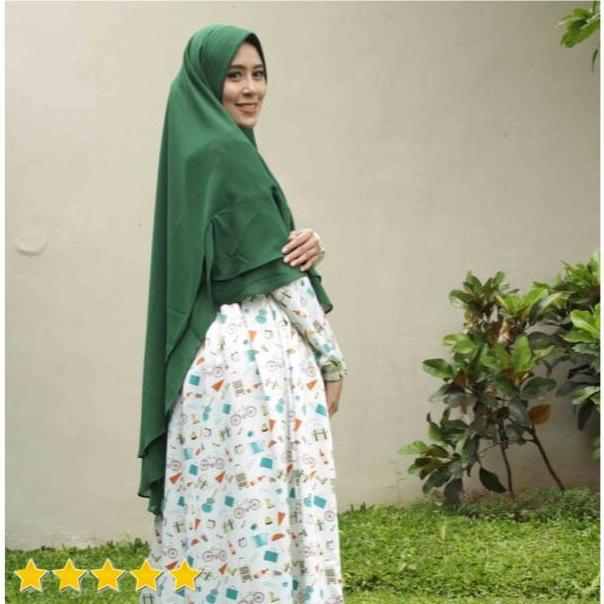 Hijab Mengerti Kamu - Khimar Pet Khimar 2 Layer Khimar Instan Kerudung Instan Kerudung Syari Hijab Instan Kekinian Hijab Syari Jilbab Instan Terbaru Jilbab Syari Warna Hijau Botol Rara Khimar