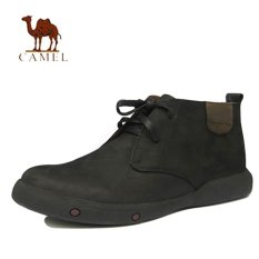 Camel Men S Martin Boots Genuine Leather Casual Male Ankle Boots Leather Tooling Boots Black Tiongkok