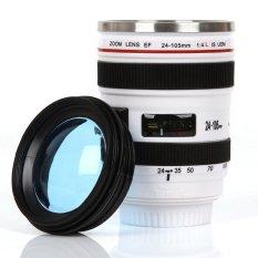 Caniam Lensa Kamera Coffee Cup, TRAVEL MUG-Kamera EOS 24-105mm Model Stainless 400 Ml Thermos (Putih)