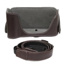 Canon Leather Half Case For Canon Eos 600D 700D 1200D Cokelat Promo Beli 1 Gratis 1