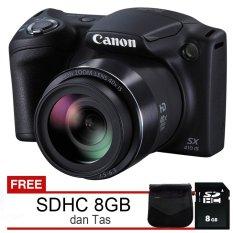 Canon Powershot SX410 IS - 20MP - Hitam + Free SDHC 8GB dan Tas