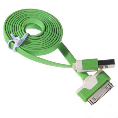 Cantiq Cable Data Charging Charger Cable USB Flat 30pin For Apple iPhone 4/4s/ iPad - Hijau