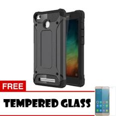 Jual Case Aluminum Metal Spigen Tough Armor Tech Case For Xiaomi Redmi 3 Pro Hitam Tempered Glass Online