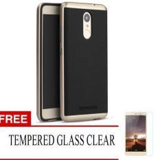 Case Chanel Ipaky for Xiaomi Redmi Note 3/ Redmi note 3 Pro - Gold + Gratis Tempered Glass