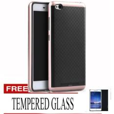 CASE CHANEL IPAKY FOR XIAOMI REDMI NOTE 3 / REDMI NOTE 3 PRO- ROSE GOLD FREE TEMPERED GLASS