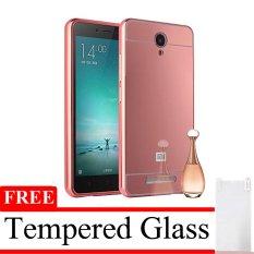 Case Mirror Aluminium Bumper With Mirror Slide For Xiaomi Redmi Note 2 Pro + Gratis Tempered